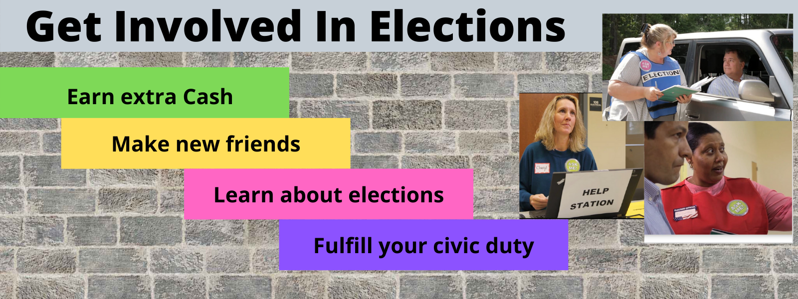 Get Involved In Elections