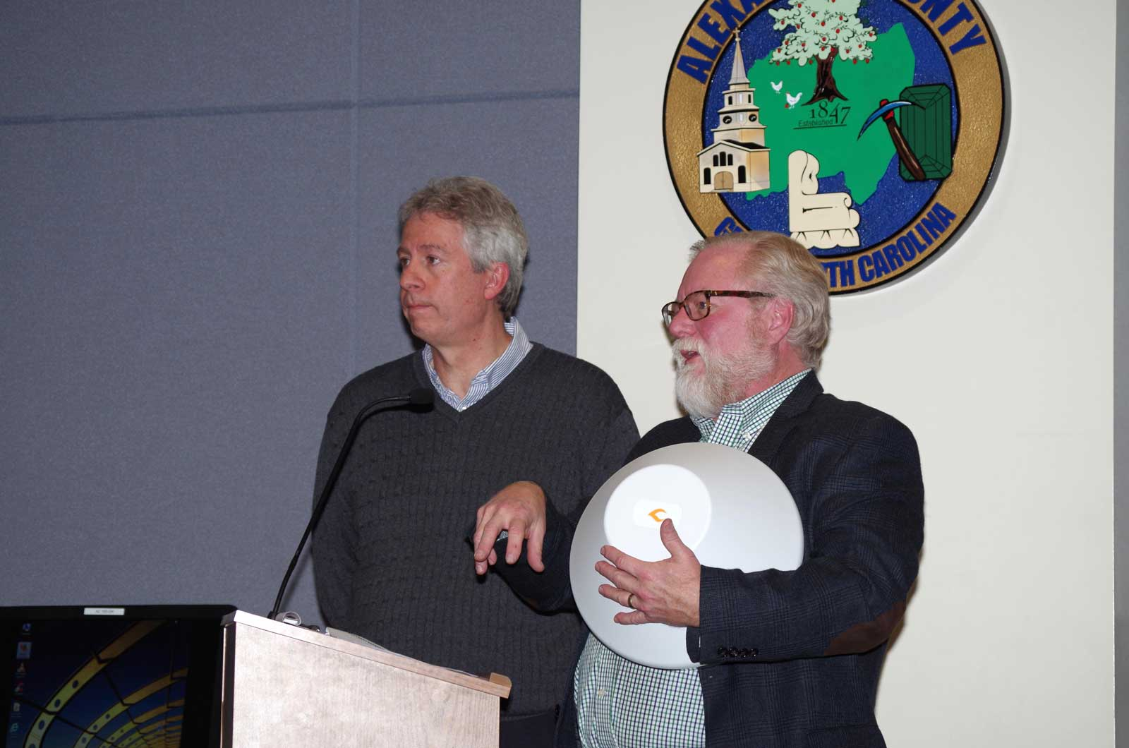 Alan Fitzpatrick (left), CEO of Open Broadband, LLC and Kent Winrich (right), CTO  of Open Broadband, LLC