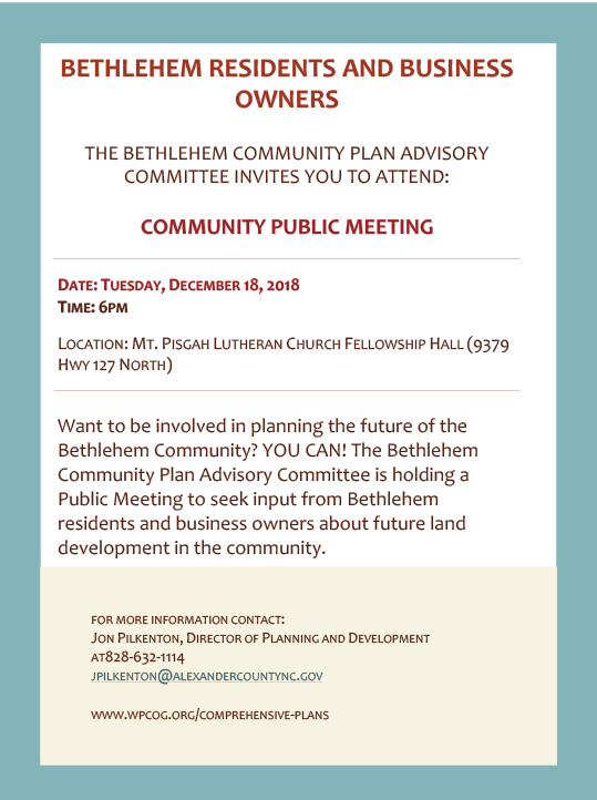 Bethlehem Community Meeting