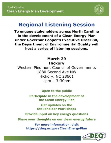 Clean Energy Plan Regional Listening Session