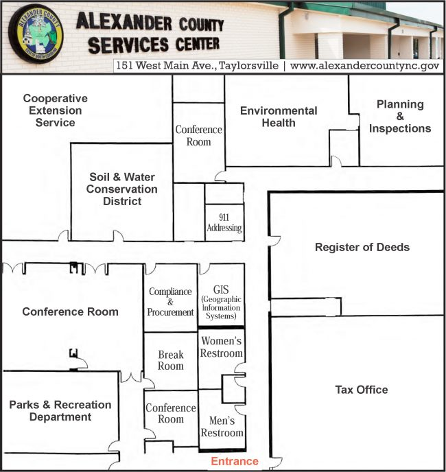 Alexander County Services Center layout